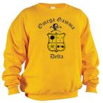 Crew Neck Sweatshirt Gold W/ Black Logo