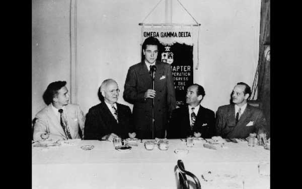 Rho Chapter Father/Son Breakfast 1948