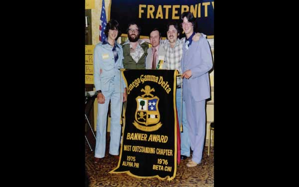 Alpha Phi Chapter receives Banner Plan Banner at 1977 Convention